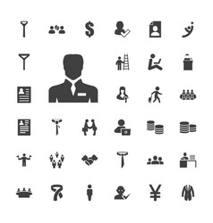 33 businessman icons vector