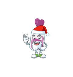 a picture santa purple potion with ok finger vector image