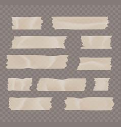 Adhesive or masking tape set vector