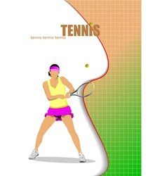 al 0208 tennis vector image