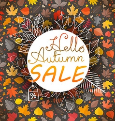 Autumn Fall sale banner template vector image