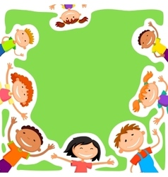 Background blank with kids summer camp vector