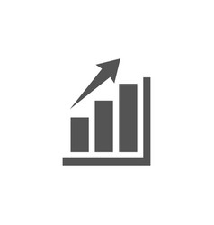 bar chart graphic icon design template vector image