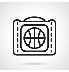 Basketball bag black simple line icon vector
