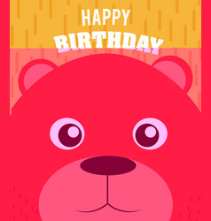 bear happy birthday card vector image