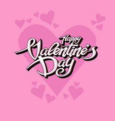 beautiful text for valentines day vector image
