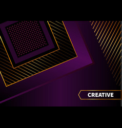 Black abstract background with squares vector