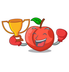 Boxing winner fruit of nectarine isolated on vector
