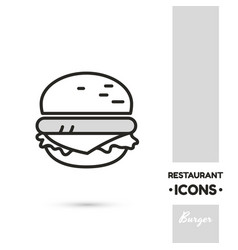 Burger linear icon vector