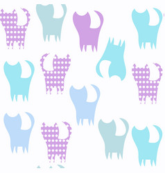 cats animals seamless pattern it is located in vector image