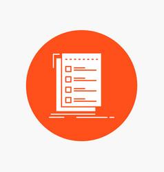 Check checklist list task to do white glyph icon vector