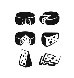 cheese icon set vector image