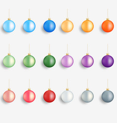 Christmas balls realistic winter holidays vector