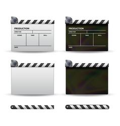 Clapper board set of movie clapper board vector