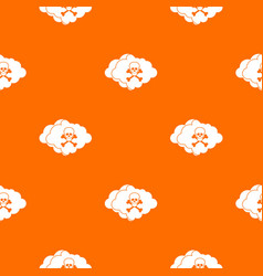 cloud with skull and bones pattern seamless vector image
