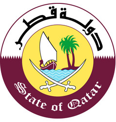 Coat of arms of qatar vector
