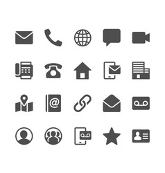 contact glyph icons vector image