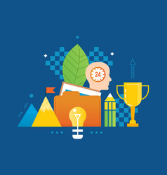 Creativity thinking ideas success leadership vector