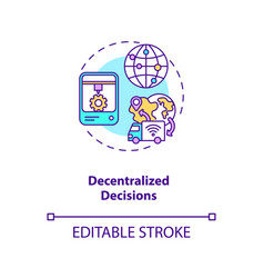 Decentralized decisions concept icon vector