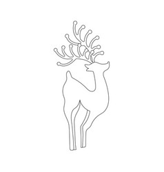deer silhouette coloring page vector image