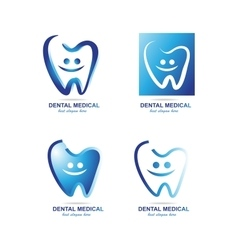 Dentist dental logo icon set vector