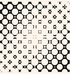 diagonal halftone pattern with circles and squares vector image