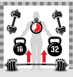 dumbbells heavy weight sport vector image