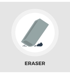 Eraser flat icon vector image