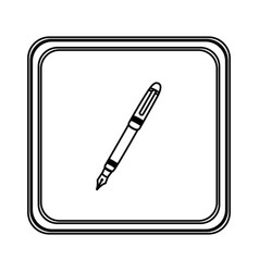 Figure emblem ballpoint icon vector