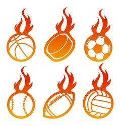 Fire Sport Balls Logo vector