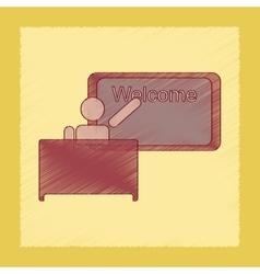 Flat shading style icon table board teacher vector