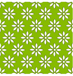 for nature related concepts with flower motif vector image