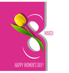 Greeting card for 8 march vector