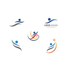 healthy life people logo vector image