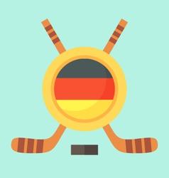 Hockey in Germany vector image