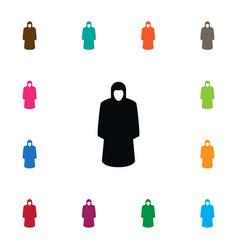 isolated protection jacket icon raincoat vector image