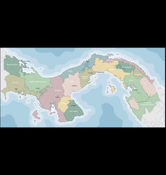 Map panama vector