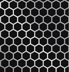Metal Hexagon Grill vector image