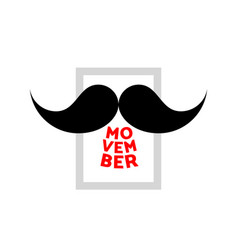 Movember mustache icon vector