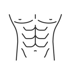 muscular male torso linear icon vector image