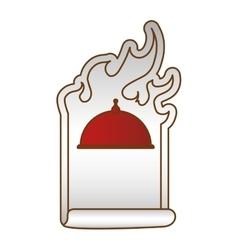 Order fast food emblem image vector