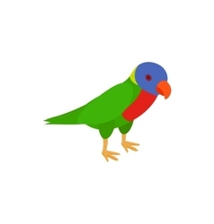 Parrot icon isometric 3d style vector image vector image