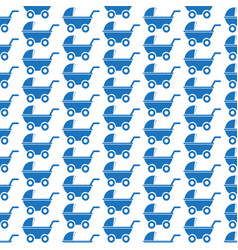 Pattern background baby carriages icon vector