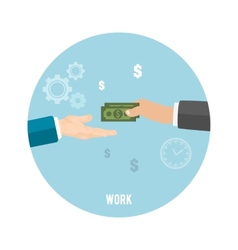 Payment of work vector image