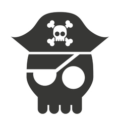 pirate skull isolated icon design vector image