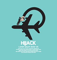 Plane Hijack Concept Abstract Design vector image