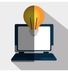 portable computer design vector image vector image