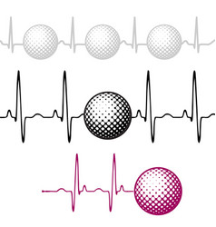Pulse golf ball set vector