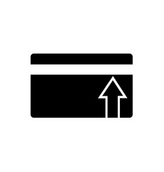 receipt of funds on the card icon vector image