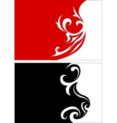 Red And Black Floral vector image